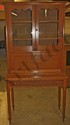 L10 2 ANTIQUE AMERICAN 19TH CENTURY WALNUT PLANTATION DESK WITH BOOKCASE