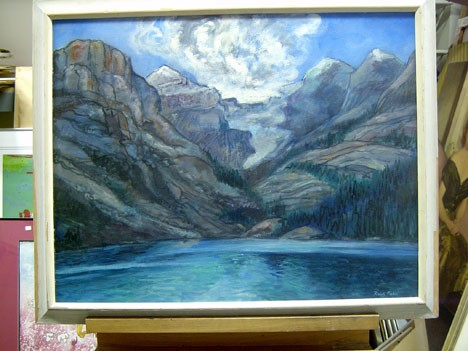 RALPH FABRI (American 1894-1975)  MOUNTAIN LAKE  signed, oil on board 22 x 28 in.