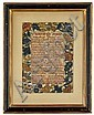 Needlework sampler, signed 'ann strettell her work in ye yeare 1733', Composed of two columns of embriodered text entitled