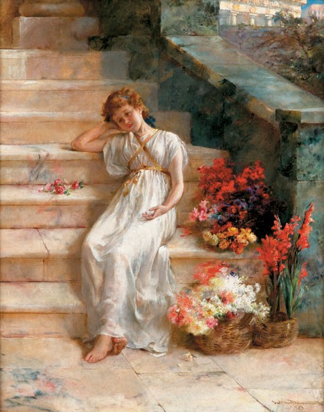 ARTHUR DRUMMOND, (BRITISH 1871-1951), THE FLOWER SELLER