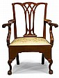 Chippendale mahogany commode armchair, philadelphia, pa, circa 1780, Serpentine crestrail above