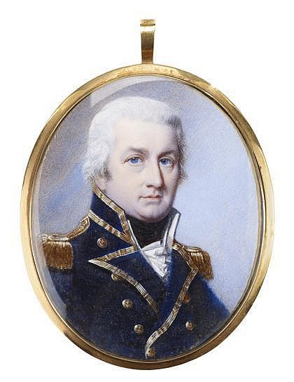 Attributed to George Engleheart (British, 1750-1829), miniature portrait of sir alexander forrester inglis cochrane (1758-1832), Waterc