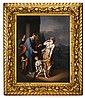 Large and impressive KPM hand-painted porcelain plaque, after a painting by adriaen van der werff (dutch, 1659-1722), circa 1880, Depic