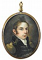 American School 19th century, portrait miniature of walker keith armistead (1785-1845) of virginia, Watercolor on ivory, gilt locket fr