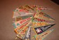 15 FUN PARK 1950S AND 1960S BANNERS - NEAR MINT - MOST UNTOUCHED