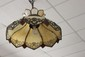 BEAUTIFUL SLAG GLASS HANGING CHANDELIER WITH GREAT FILIGREE 22
