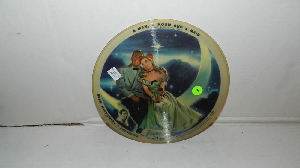 vintage Vuge picture record A Man A Moon A Maid