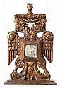 A CARVED TWO-HEADED EAGLE MEXICAN CANDLESTICK 20th cent