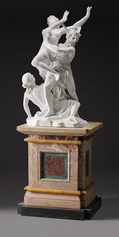 an italian marble figural group