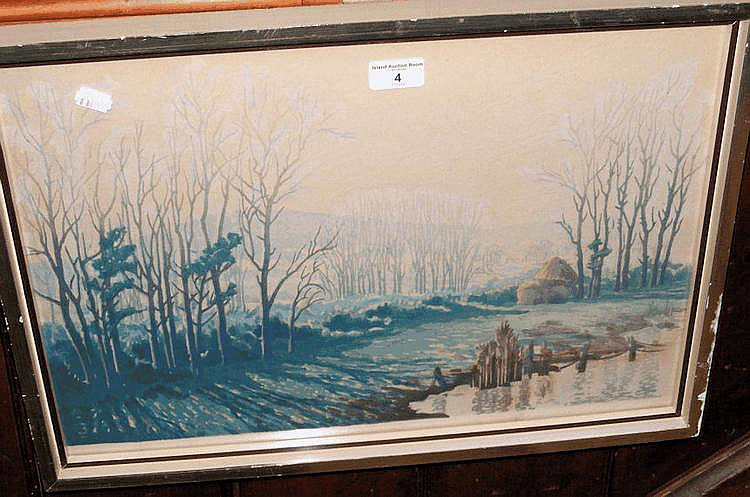 CAVENDISH MORTON - a woodblock picture of winter