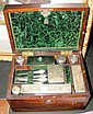 A Victorian rosewood travelling vanity case with