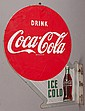 COCA-COLA HEAVY TIN FLANGE SIGN