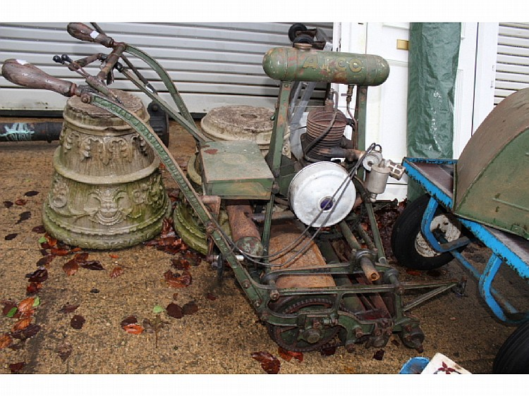 A GOOD VINTAGE CAST FRAME ATCO LAWN MOWER