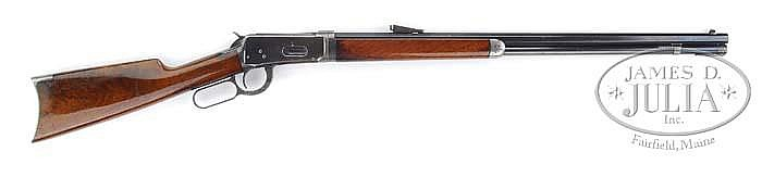 *RARE PRESENTATION WINCHESTER MODEL 1894 TAKEDOWN LEVER ACTION RIFLE WITH UNCHECKERED DELUXE WOOD.