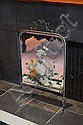 PAINTED MIRROR FIRE SCREEN