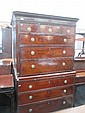 An early 19th century mahogany chest on chest