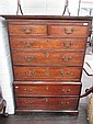 An 19th century and later mahogany chest on chest