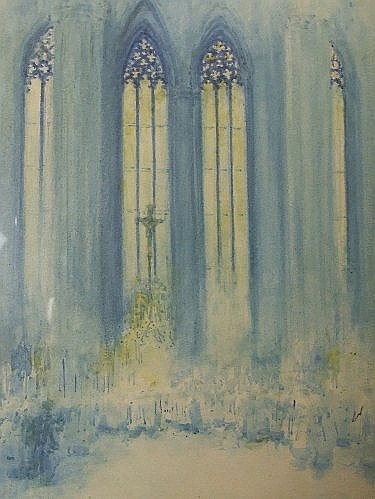 A watercolour, Victor Noble Rainbird, Chartres,