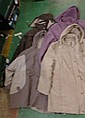 4 Cold Weather Jackets with hoods, in lilac, beige