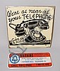 (2) TIN TELEPHONE SIGNS