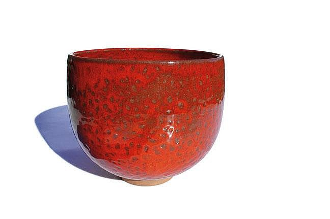 Laura Andreson glazed bowl (red)