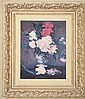 A DECORATIVE PRINT DEPICTING A STILL LIFE IN AN ORNATE FRAME65 X 51.5CM (IMAGE)