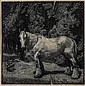 LIONEL LINDSAY (1874-1961) The White Horse wood engraving ed.100