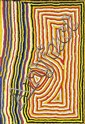 NINGIE NANGALA (BORN CIRCA 1934) Inyaroo Tjurrnu (Soakwater) 2003 acrylic on linen