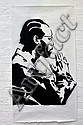 SHYAM GANJU (OPTIC) Rzarektor 2004 enamel stencil print on paper a/p signed and dated lower left 120 x 66cm
