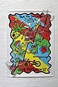 REDHAND PRESS (DARWIN HIGH SCHOOL) Crime Prevention NT 2004 screen print on poster Redhand Press stamp lower right 91 x 65cm