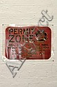 ANDREW MCDONALD & VLADIMIR KANIGHER (AMAC & WALAAD) Permit Zone Info Board (Brown & Black) 2004 unique state stencil print on acetat...