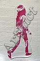 GREG HILLEARD (REKS) Untitled (Pink Dread Walking) 2004 enamel stencil print on paper, shaped cut out paste-up a/p 92 x 44cm