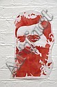 REGAN TAMANUI (HAHA) Ned Kelly 2003 enamel spray on planprint a/p 46 x 30cm