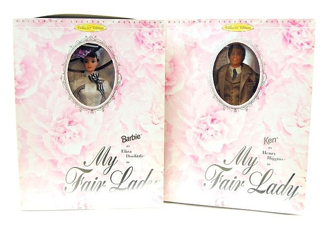 Lot of 2 Mattel My Fair Lady Barbie Dolls NIB