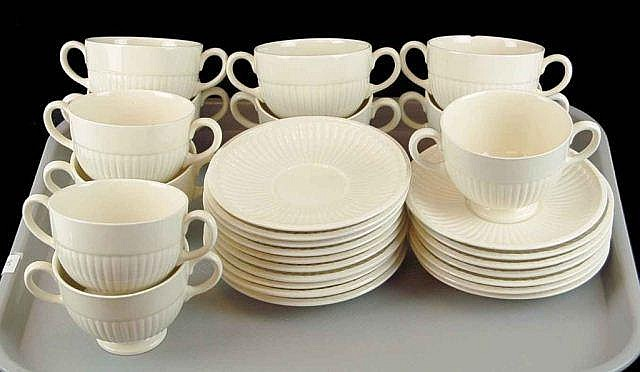 Wedgwood Bullion Cups & Saucers Lot