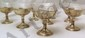 Eight Sterling & Crystal Sherbet Goblets