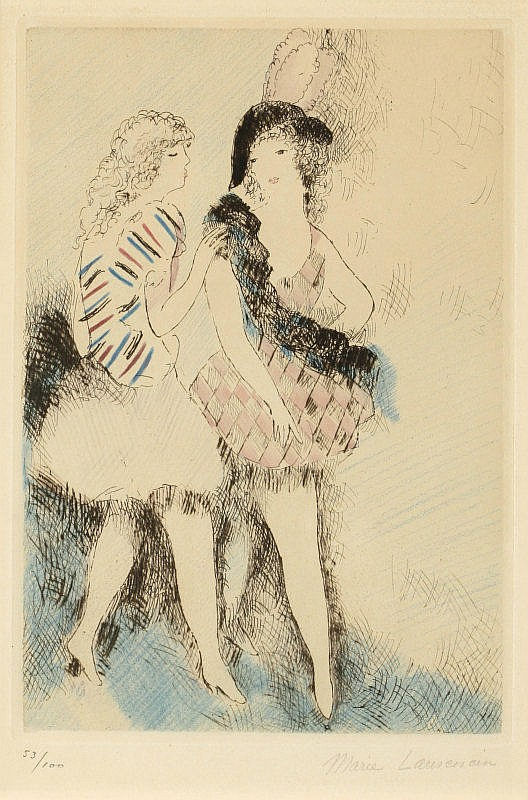 Marie Laurencin, L'Arlequine (sold with 2A; set of 2)