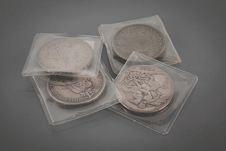 FOUR CROWN COINS