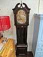 A MODERN MAHOGANY CASED GRANDFATHER CLOCK with