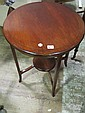 AN EDWARDIAN MAHOGANY OCCASIONAL TABLE the