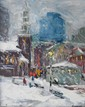 Nancy  Whorf  (1930-2009) , #41 Park Street Church, oil on masonite, 20 x 16, signed lower right, titled verso, purchased from the Berta Walker Gallery