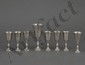 EIGHT PIECE STERLING SILVER KIDDUSH CUP SET
