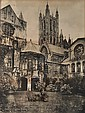 The Baptistery at Canterbury Cathedral. ca. 1880.