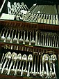 HEIRLOOM Damask Rose Sterling Silver Flatware, 108 Pc: