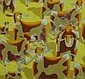 LEE WOODS acrylic on board 'Custard Cows' signed