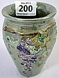 Lise B Moorcroft Pottery Vase decorated with