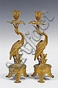 Pair of Regency-style late Victorian gilt brass