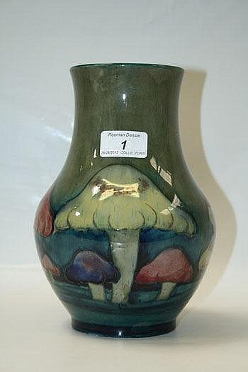 Moorcroft pottery baluster-shape vase, tube-lined