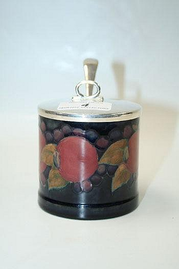 Moorcroft pottery jam pot decorated in the