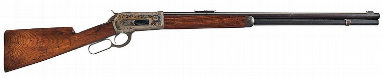 Rare Documented Special Order Westley Richards Marked Winchester Model 1886 Rifle with Casehardened Receiver and English Express Sights
